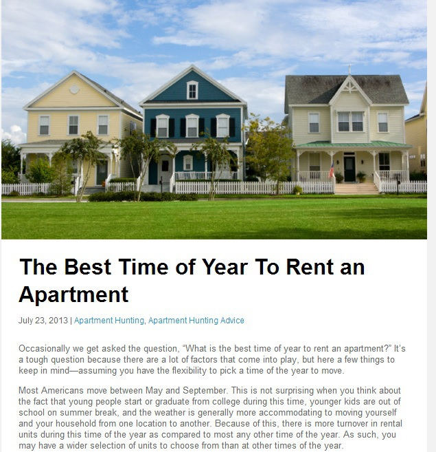 what s the best time to rent apartments in temecula ca