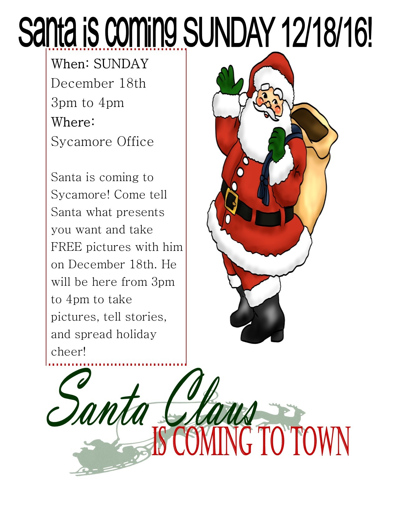 Madison Public Library As Santa Claus >> Christmas Gold And White Lettering Design Christmas Is Coming Totown